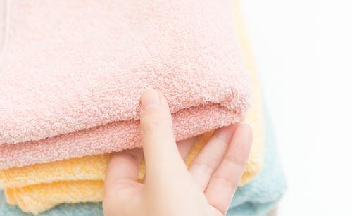 肌さわりのいいタオル