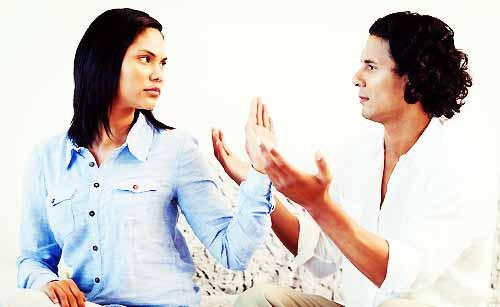 喧嘩中のカップル