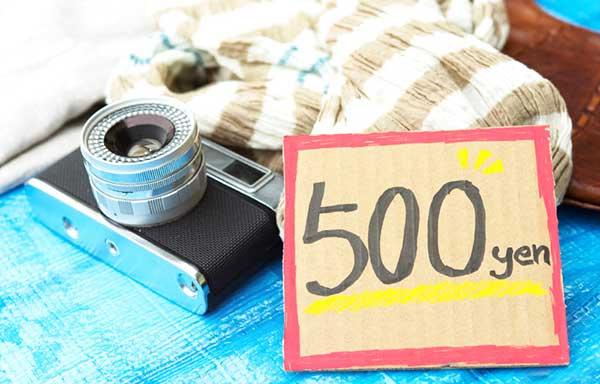 フリマで売られているカメラ