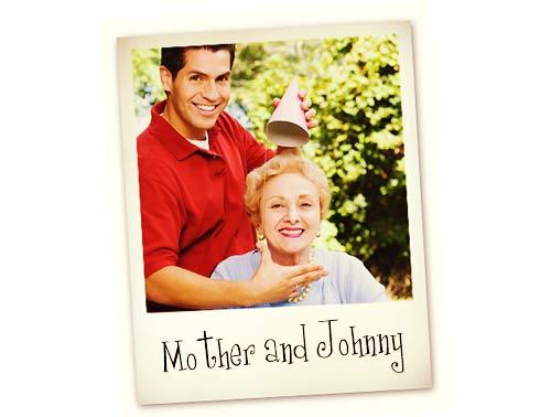 母と彼氏の写真