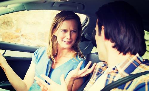車の中での夫婦喧嘩