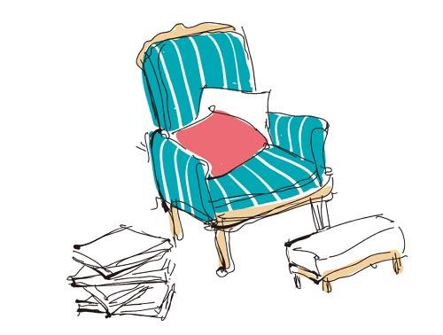 椅子とクッション