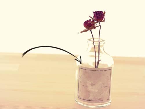 空き瓶のラベル