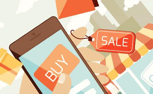 スマートフォンでショッピング