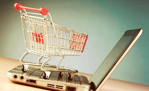 ショッピングカートとパソコン