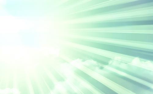 照りつける紫外線