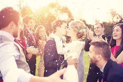 豪華な結婚式