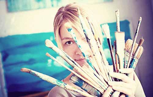 画家である女性