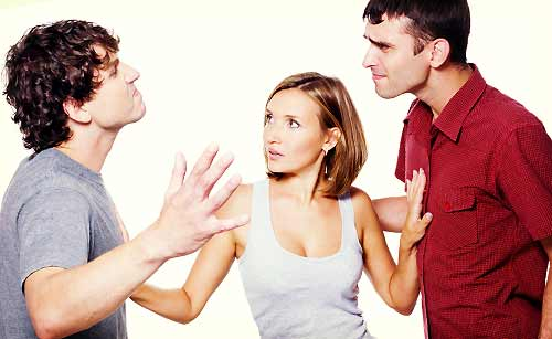女友達と仲良くする友人に対抗する男