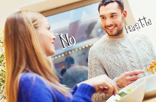 彼氏にNOと答える女性