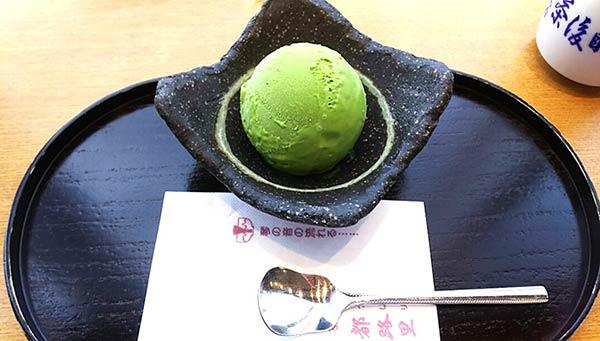 抹茶のアイスクリーム