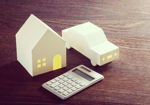 家と車と電卓