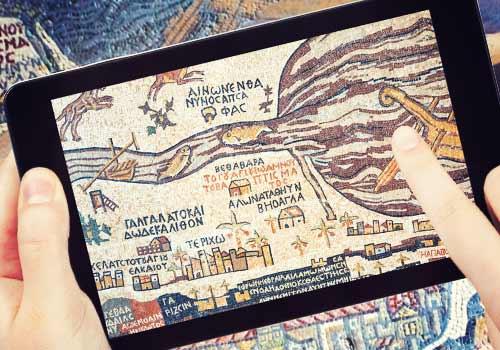 スマホで表示された地図