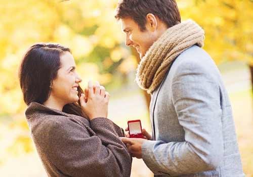 好きな女性にプロポーズする男性