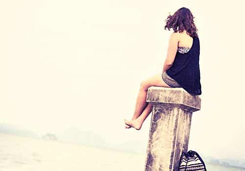 独りぼっちになった女性