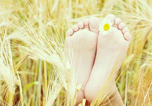 稲穂の裸足