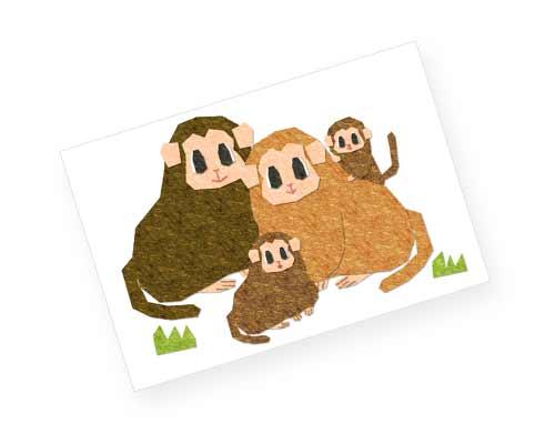 猿の家族の年賀状