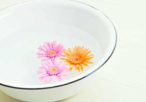 水が入った洗面器