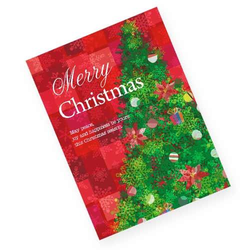 おしゃれなツリーのクリスマスカード