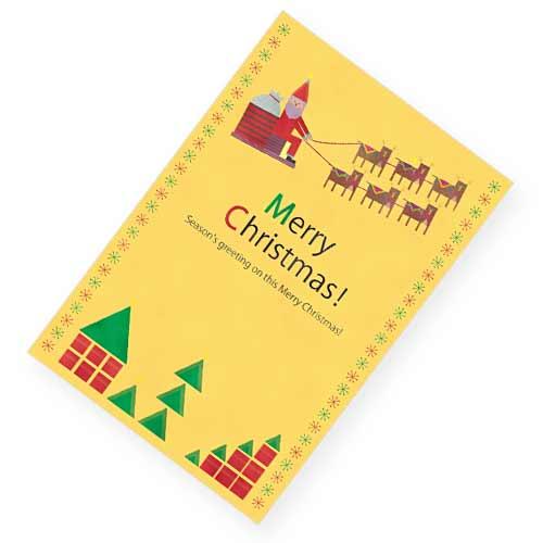 サンタクロースのクリスマスカード
