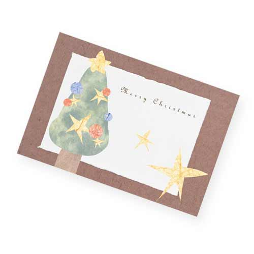 クリスマスツリーのクリスマスカード