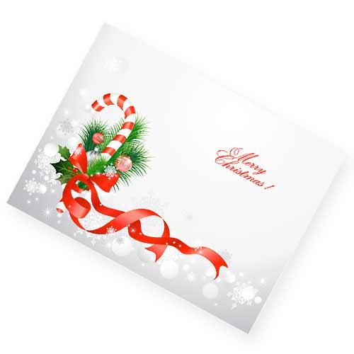 クリスマスリボンのクリスマスカード