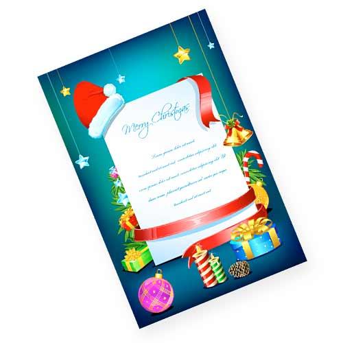 プレゼントをちりばめたクリスマスカード