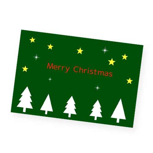 緑のクリスマスカード
