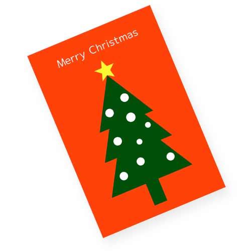 赤いクリスマスカード