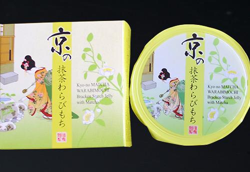 京の抹茶わらびもちの箱