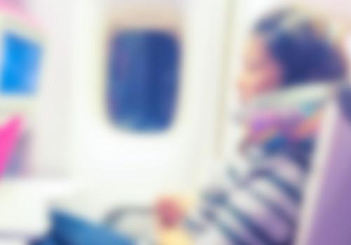 飛行機内の風景