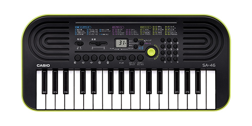シオ 電子ミニキーボード 32ミニ鍵盤 SA-46 ブラック&グリーン