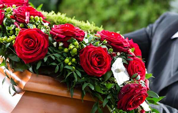 薔薇の献花