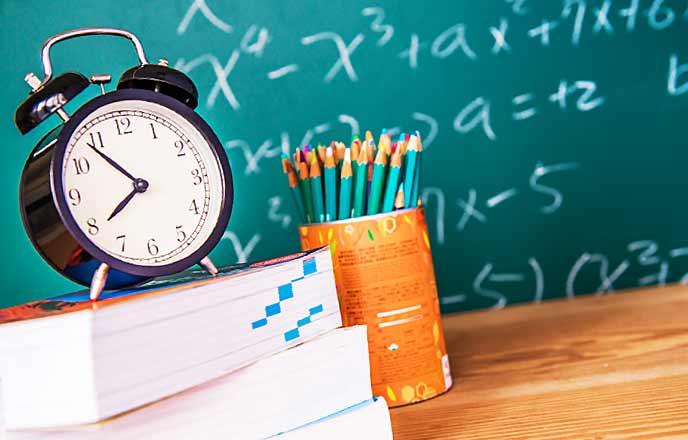 時計と参考書