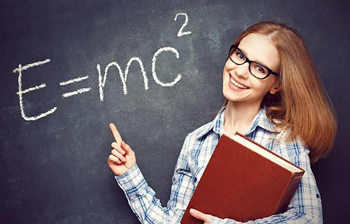 物理学が得意な女性