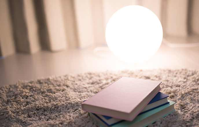 間接照明と本