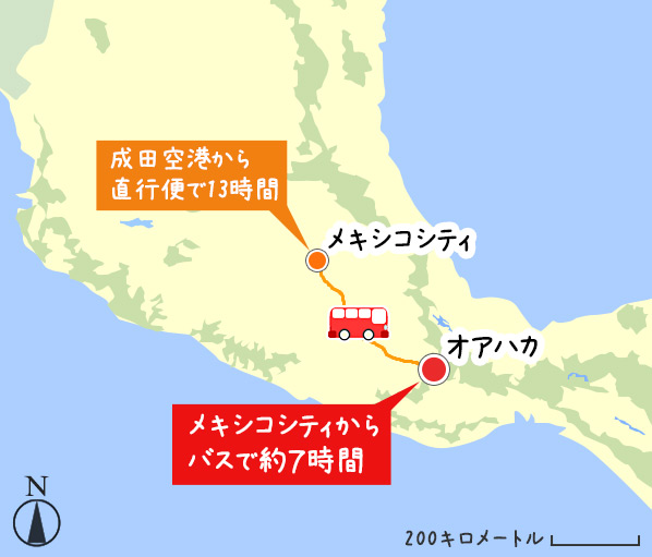 メキシコシティからオアハカへのアクセス