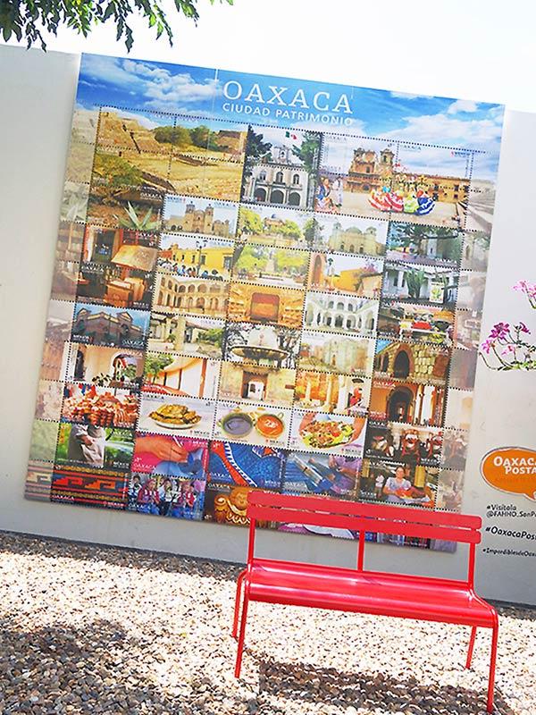 近代アートを感じるオアハカの切手博物館の看板