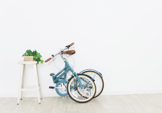 自転車と植木鉢