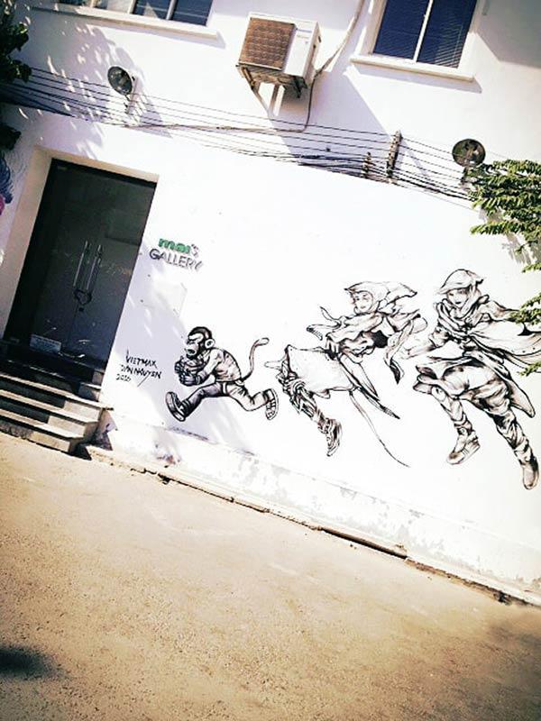 ファンタジーな壁アート