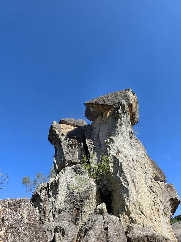 グラナイト・コージのそびえたつ岩!