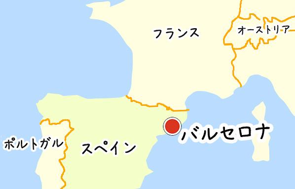 スペイン周辺の地図