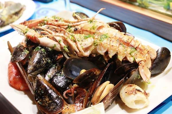バルセロナ料理といえば魚介類