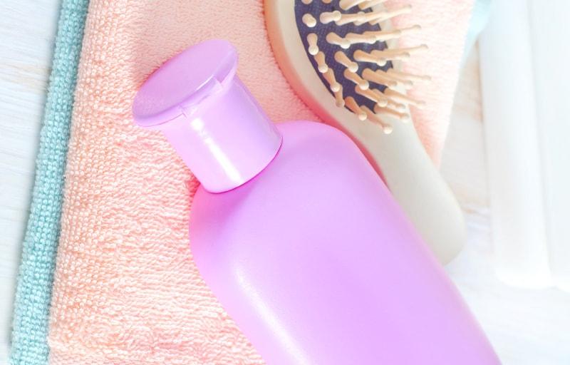 ピンク色のシャンプー