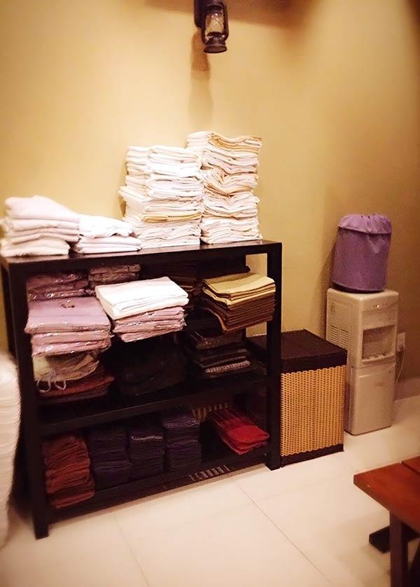 タオルはコチラの棚にもあります