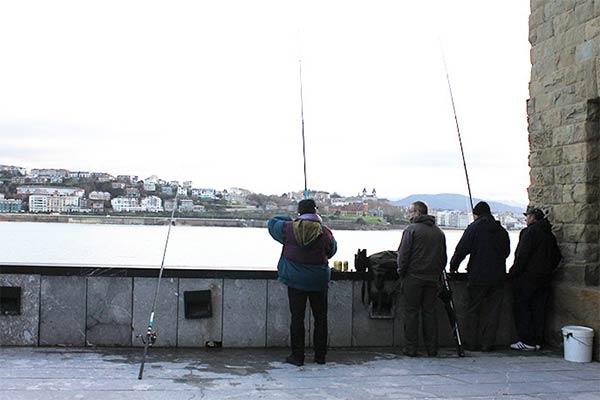 釣り人発見