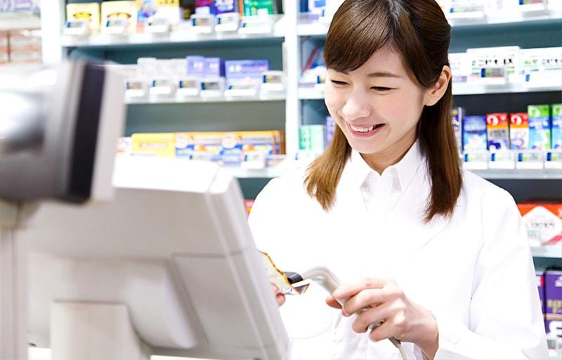 医薬品を売る登録販売者