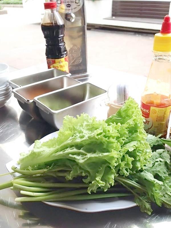 新鮮な野菜がてんこ盛り