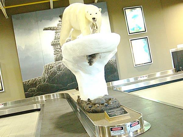 白熊のオブジェ