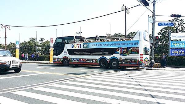 釜山(プサン)の観光は海雲台始発のバスが便利です
